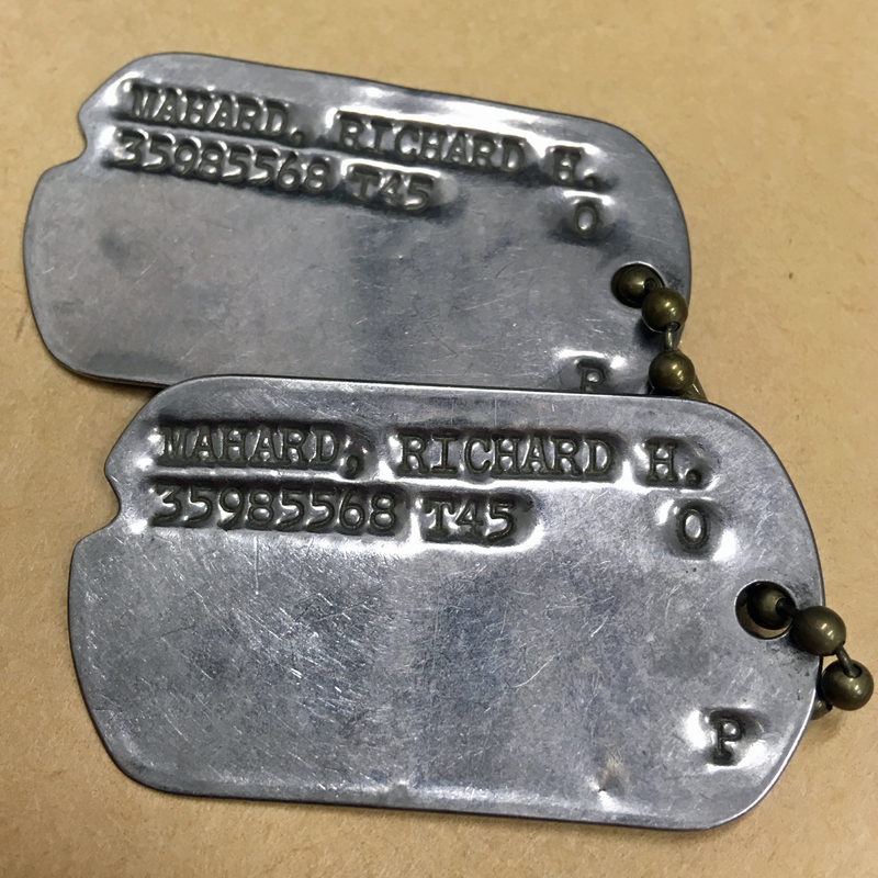 Richard Mahard's Dog Tags