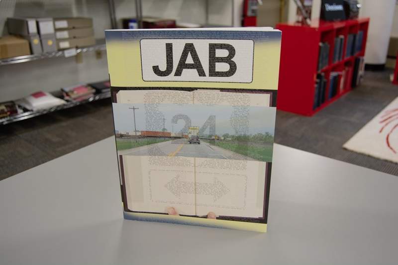 The cover of The Journal of Artists' Books No. 24 standing