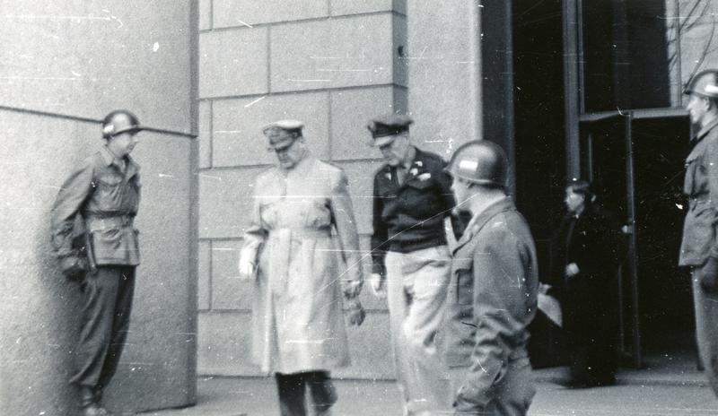 General MacArthur Exiting the Dai Ichi Building