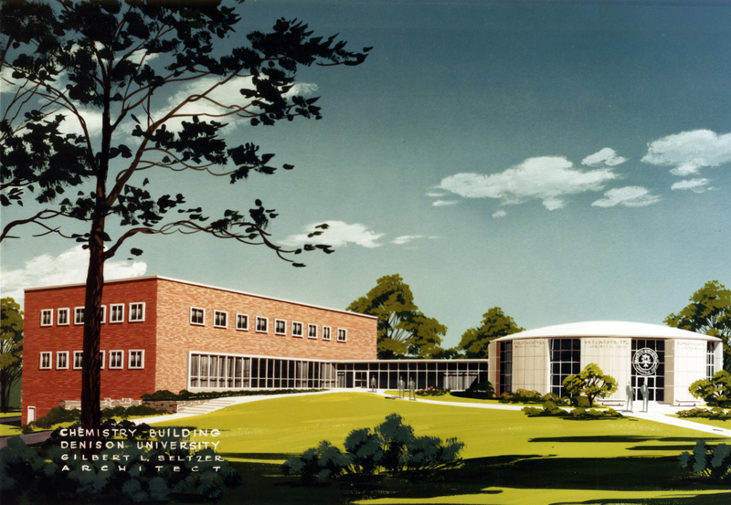 Herrick Hall / Ebaugh Laboratories Architect's Painting