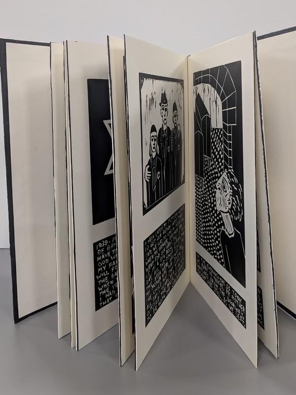 Photo of artist book Warsaw by Barbara Milman
