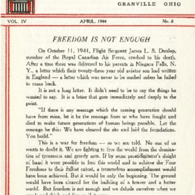 At Denison: April 1944