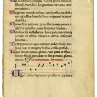 E0032 Leaf from a Gradual (Graduale)