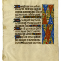 E0109 Leaf from a Book of Hours