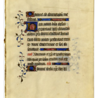 E0045 Leaf from a Book of Hours (Horæ Beatæ Mariæ Virginis)