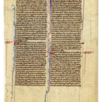 E0013 Leaf from an Oxford Bible (Biblia Sacra Latina, Versio Vulgata)