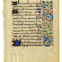 E0050 Leaf from a Book of Hours (Horæ Beatæ Mariæ Virginis)