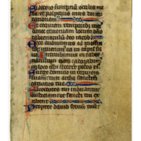 Leaf from a 13th century missal