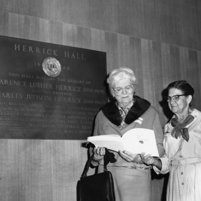 Herricks at Herrick Hall Dedication