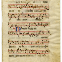 E0027 Leaf from an Antiphonal (Antiphonarium)
