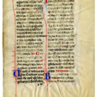 E0108 Leaf from an Italian missal