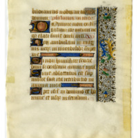 Leaf from an unknown Book of Hours
