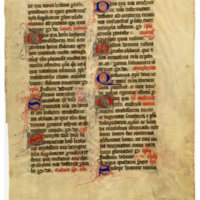 E0038 Leaf from a Missal (Missale Lemovicense Castrense)