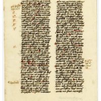 "Leaf from Latin ""Sermones"""