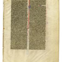 E0009 Leaf from a Bible (Biblia Sacra Latina, Versio Vulgata)