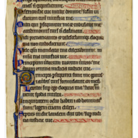 E0010 Leaf from a Psalter (Psalterium)