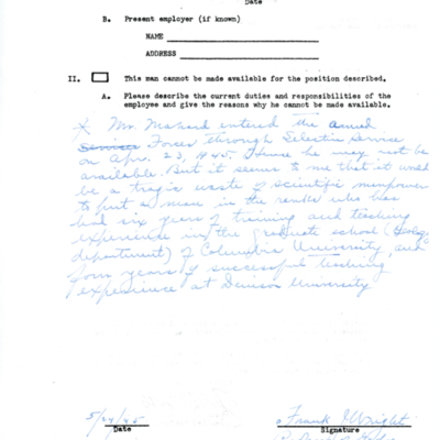 Richard Mahard's Enlistment Letter