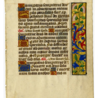 E0048 Leaf from a Book of Hours (Horæ Beatæ Mariæ Virginis)
