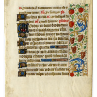 E0046 Leaf from a Book of Hours (Horæ Beatæ Mariæ Virginis)