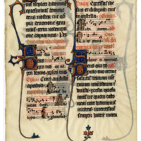 E0015 Leaf from a Missal (Missale Bellovacense)