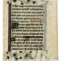 E0028 Leaf from a Book of Hours (Horæ Beatæ Mariæ Virginis)