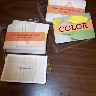 Artist's Book Ideation Cards