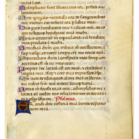 E0106 Leaf from an Italian Psalter