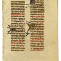 E0024 Leaf from a Book of Hours (Horæ Beatæ Mariæ Virginis)