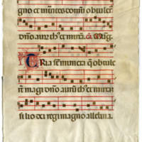E0110 Leaf from an Italian Antiphonal