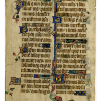 E0017 Leaf from a Psalter (Psalterium)