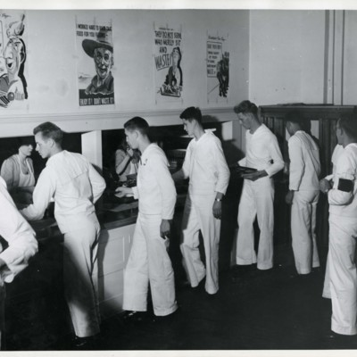 V-12 Navy Mess Hall, Shepardson Hall, 1944