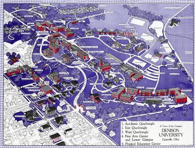 1964 Campus Map