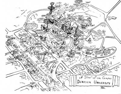 1954 Campus Map