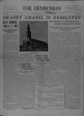 Swasey Chapel Dedication
