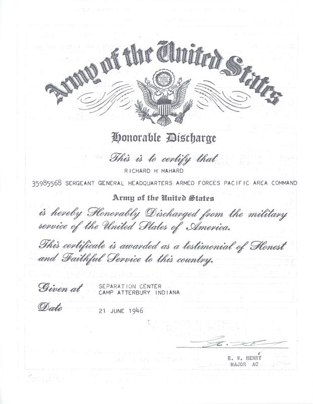 Mahard Discharge Document