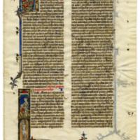 E0014 Leaf from a Bible (Biblia Sacra Latina, Versio Vulgata)