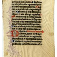 E0043 Leaf from a Book of Hours (Horæ Beatæ Mariæ Virginis)