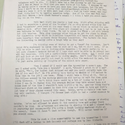Camp Atterbury Letter