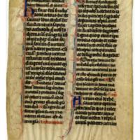 E0018 Leaf from a Breviary (Breviarium)