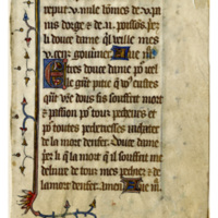 E0025 Leaf from a Book of Hours