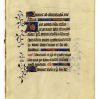 E0045 Leaf from a Book of Hours (Horæ Beatæ Mariæ Virginis)