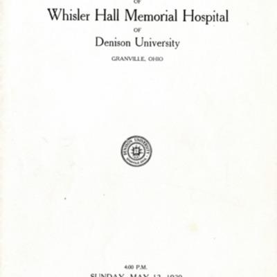 Whisler Dedication Program