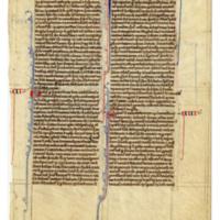 E0013 Leaf from an Oxford Bible (Biblia Sacra Latina, Versio Vulgata)