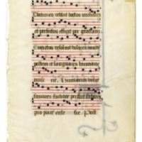 E0021 Leaf from a Hymnal (Hymnaruim)