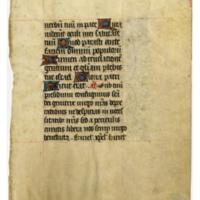 E0029 Leaf from a Book of Hours (Horæ Beatæ Mariæ Virginis)