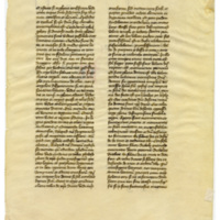 E0041 Leaf from the Dialogues of Gregory the Great (S. Gregorius Magnus, Dialogi)