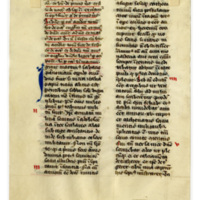 Leaf from a 15th century breviary