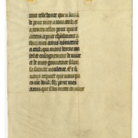Leaf from a Flemish Book of Hours