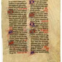 E0038 Leaf from a Missal (Missale Lemovicense Castrense)