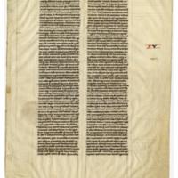 E0006 Leaf from a Cambridge Bible (Biblia Sacra Latina, Versio Vulgata)